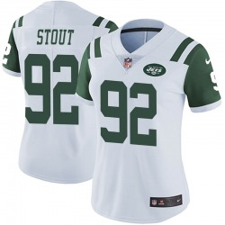 Limited Women's MyQuon Stout New York Jets Nike Vapor Untouchable Jersey - White