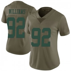 Limited Women's Quinnen Williams New York Jets Nike 2017 Salute to Service Jersey - Green