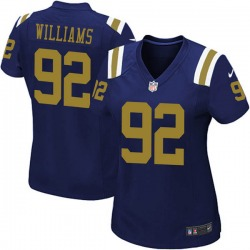 Limited Women's Quinnen Williams New York Jets Nike Alternate Vapor Untouchable Jersey - Navy Blue