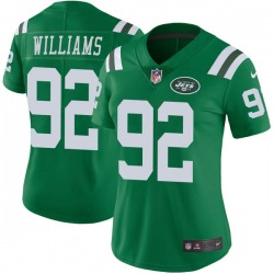 Limited Women's Quinnen Williams New York Jets Nike Color Rush Jersey - Green