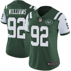 Limited Women's Quinnen Williams New York Jets Nike Team Color Vapor Untouchable Jersey - Green