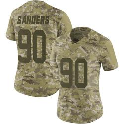 Limited Women's Trevon Sanders New York Jets Nike 2018 Salute to Service Jersey - Camo