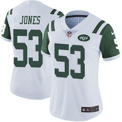 Limited Women's Tyler Jones New York Jets Nike Vapor Untouchable Jersey - White