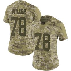 Limited Women's Wyatt Miller New York Jets Nike 2018 Salute to Service Jersey - Camo