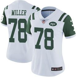 Limited Women's Wyatt Miller New York Jets Nike Vapor Untouchable Jersey - White