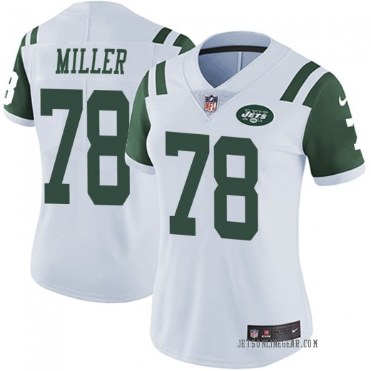 Limited Women's Wyatt Miller New York Jets Nike Vapor Untouchable Jersey - White