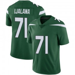 Limited Youth Ben Ijalana New York Jets Nike Vapor Jersey - Gotham Green