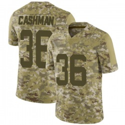 Limited Youth Blake Cashman New York Jets Nike 2018 Salute to Service Jersey - Camo