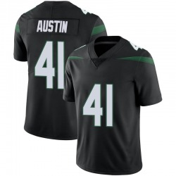 Limited Youth Blessuan Austin New York Jets Nike Vapor Jersey - Stealth Black