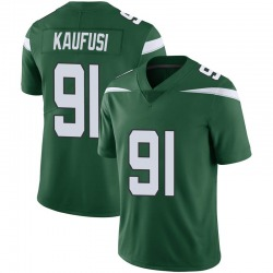 Limited Youth Bronson Kaufusi New York Jets Nike Vapor Jersey - Gotham Green