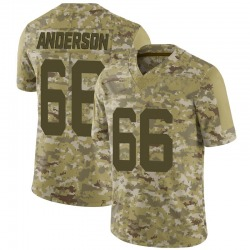 Limited Youth Calvin Anderson New York Jets Nike 2018 Salute to Service Jersey - Camo
