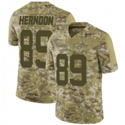 Limited Youth Chris Herndon New York Jets Nike 2018 Salute to Service Jersey - Camo