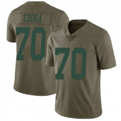 Limited Youth Chuma Edoga New York Jets Nike 2017 Salute to Service Jersey - Green