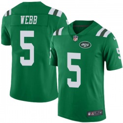 Limited Youth Davis Webb New York Jets Nike Color Rush Jersey - Green