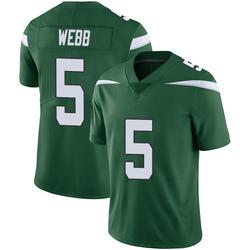 Limited Youth Davis Webb New York Jets Nike Vapor Jersey - Gotham Green