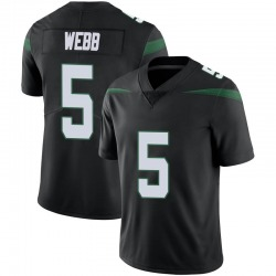 Limited Youth Davis Webb New York Jets Nike Vapor Jersey - Stealth Black
