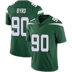 Limited Youth Dennis Byrd New York Jets Nike Vapor Jersey - Gotham Green