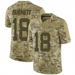 Limited Youth Deontay Burnett New York Jets Nike 2018 Salute to Service Jersey - Camo
