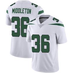 Limited Youth Doug Middleton New York Jets Nike Vapor Jersey - Spotlight White