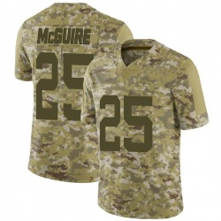 Limited Youth Elijah McGuire New York Jets Nike 2018 Salute to Service Jersey - Camo