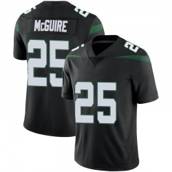 Limited Youth Elijah McGuire New York Jets Nike Vapor Jersey - Stealth Black