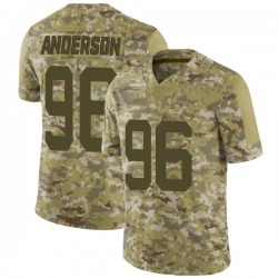 Limited Youth Henry Anderson New York Jets Nike 2018 Salute to Service Jersey - Camo