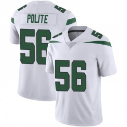 Limited Youth Jachai Polite New York Jets Nike Vapor Jersey - Spotlight White