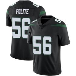 Limited Youth Jachai Polite New York Jets Nike Vapor Jersey - Stealth Black