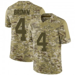 Limited Youth Kyron Brown New York Jets Nike Camo 2018 Salute to Service Jersey - Brown
