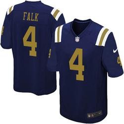 Limited Youth Luke Falk New York Jets Nike Alternate Vapor Untouchable Jersey - Navy Blue