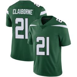 Limited Youth Morris Claiborne New York Jets Nike Vapor Jersey - Gotham Green