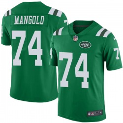 Limited Youth Nick Mangold New York Jets Nike Color Rush Jersey - Green