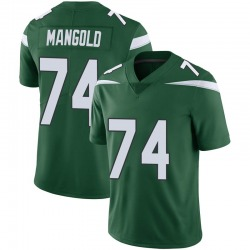 Limited Youth Nick Mangold New York Jets Nike Vapor Jersey - Gotham Green
