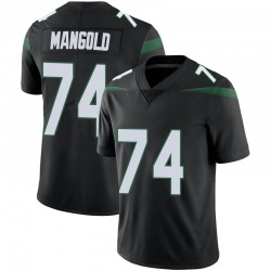 Limited Youth Nick Mangold New York Jets Nike Vapor Jersey - Stealth Black