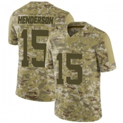 Limited Youth Quadree Henderson New York Jets Nike 2018 Salute to Service Jersey - Camo