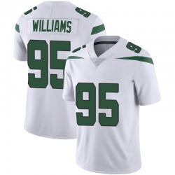 Limited Youth Quinnen Williams New York Jets Nike Vapor Jersey - Spotlight White