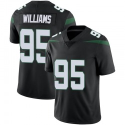 Limited Youth Quinnen Williams New York Jets Nike Vapor Jersey - Stealth Black