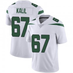 Limited Youth Ryan Kalil New York Jets Nike Vapor Jersey - Spotlight White