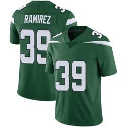 Limited Youth Santos Ramirez New York Jets Nike Vapor Jersey - Gotham Green