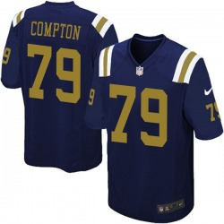 Limited Youth Tom Compton New York Jets Nike Alternate Vapor Untouchable Jersey - Navy Blue