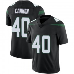 Limited Youth Trenton Cannon New York Jets Nike Vapor Jersey - Stealth Black