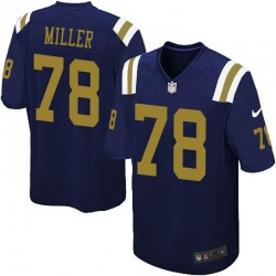Limited Youth Wyatt Miller New York Jets Nike Alternate Vapor Untouchable Jersey - Navy Blue