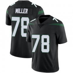 Limited Youth Wyatt Miller New York Jets Nike Vapor Jersey - Stealth Black