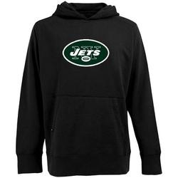 Men's New York Jets Antigua Signature Pullover Hoodie - - Black