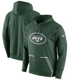 Men's New York Jets Nike Champ Drive Vapor Speed Pullover Hoodie - - Green