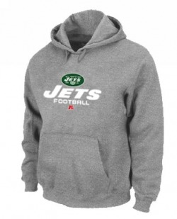 Men's New York Jets Nike Critical Victory Pullover Hoodie - - Grey