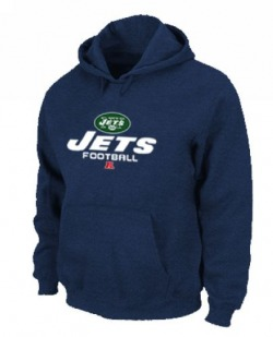 Men's New York Jets Nike Critical Victory Pullover Hoodie - - Navy