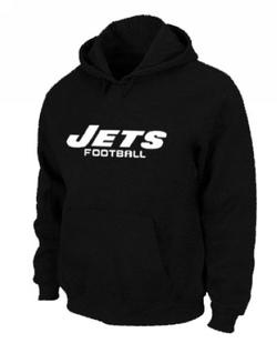 Men's New York Jets Nike Font Pullover Hoodie - - Black