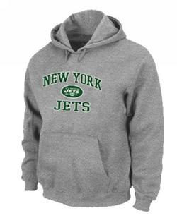 Men's New York Jets Nike Heart & Soul Pullover Hoodie - - Grey