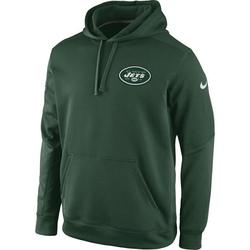 Men's New York Jets Nike KO Chain Fleece Pullover Performance Hoodie - - Green
